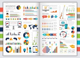 Flaches Infographik-Set