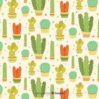 Flaches kaktusmuster