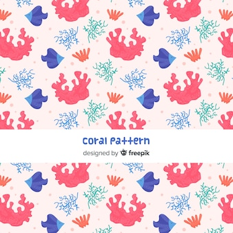 Flaches korallenmuster