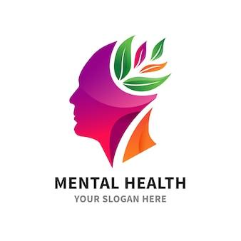 Flaches logo-paket für psychische gesundheit