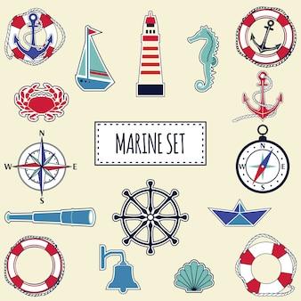 Flaches marine-set