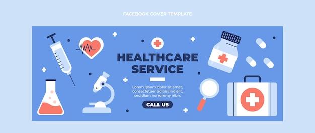 Flaches medizinisches facebook-cover für medizinisches design