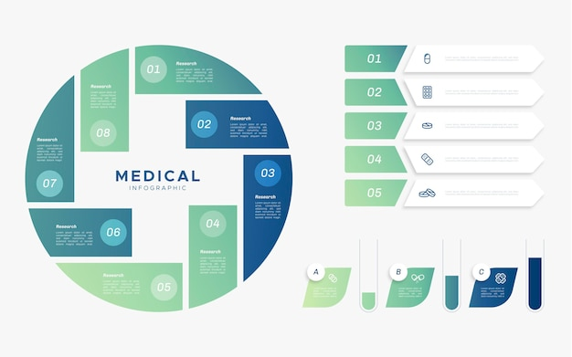 Flaches medizinisches infografikkonzept