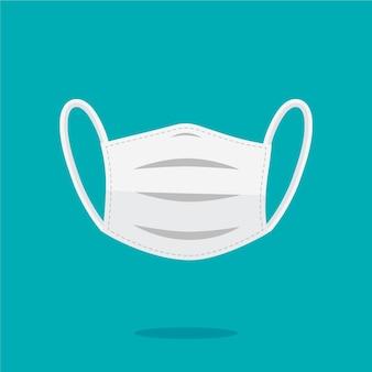 Flaches medizinisches maskenkonzept