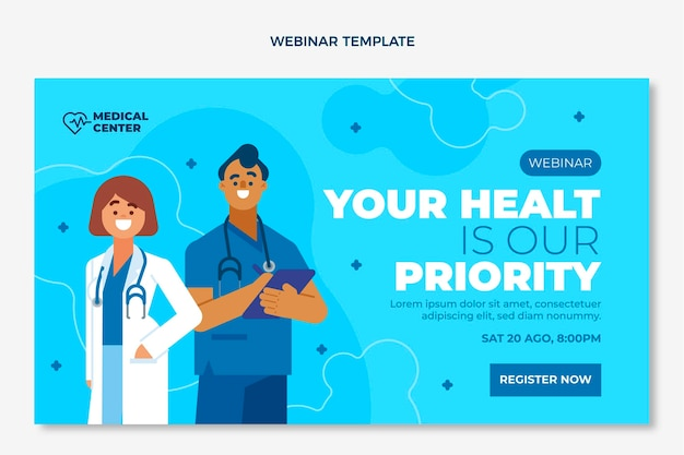 Flaches medizinisches webinar