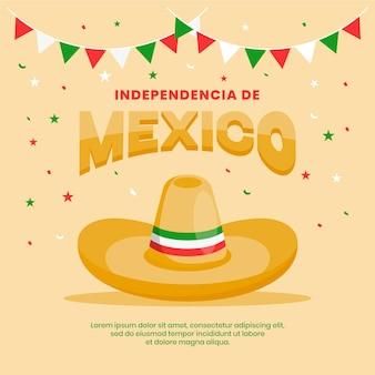 Flaches mexiko-unabhängigkeitstagkonzept