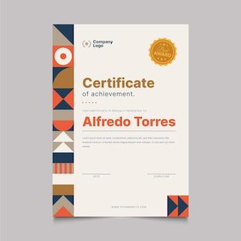 Flaches modernes zertifikat