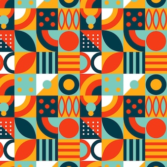 Flaches mosaikmuster-design