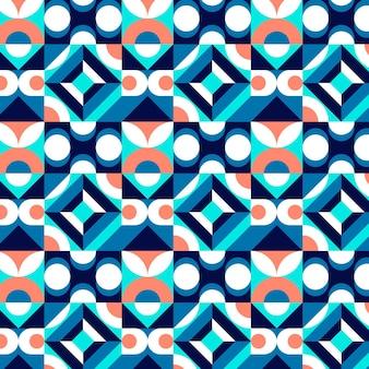 Flaches nahtloses mosaikmuster Kostenlosen Vektoren