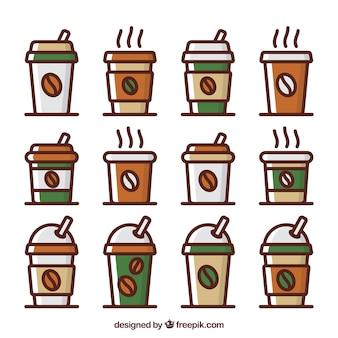 Flaches papier kaffeetasse