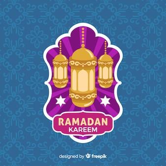 Flaches ramadan-etikett