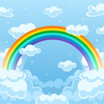 Flaches regenbogenkonzept
