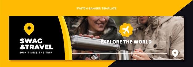 Flaches reise-twitch-banner
