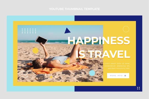 Flaches reise-youtube-thumbnail