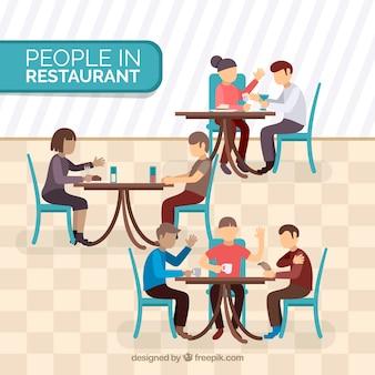 Flaches restaurant ohne tisch