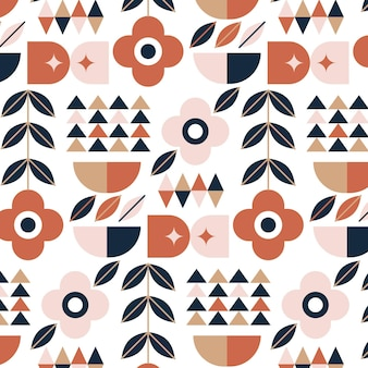 Flaches skandinavisches designmuster