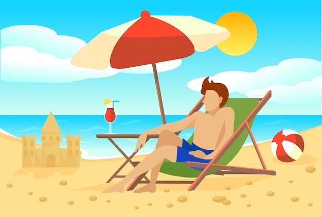 Flaches sommerferienkonzept