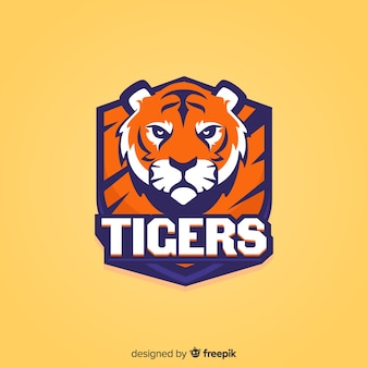 Flaches sport-tiger-logo