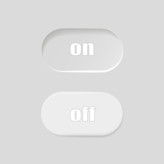 Flaches symbol ein und aus schaltervektorformat umschalten