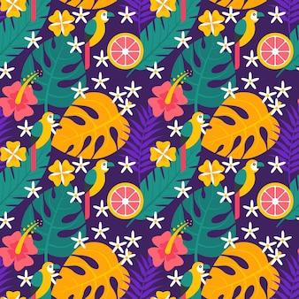 Flaches tropisches sommermuster