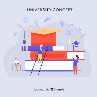 Flaches universitätskonzept