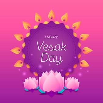 Flaches vesak-event