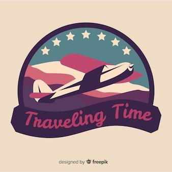 Flaches vintages reiselogo