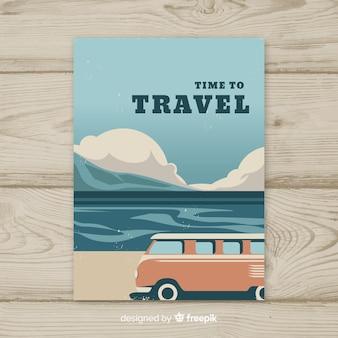 Flaches vintages reiseplakat