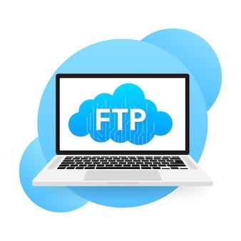 Flaches webbanner mit ftp