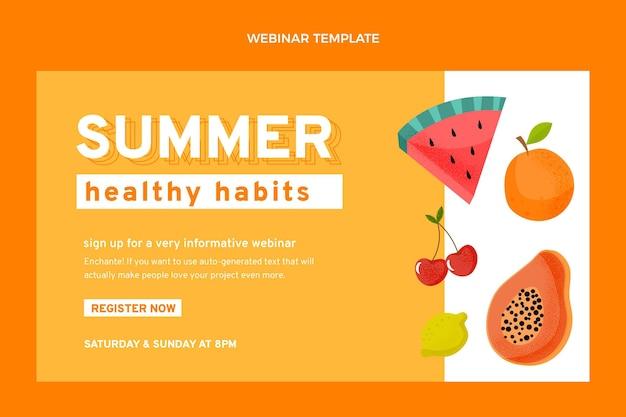 Flaches webinar für gesunde früchte