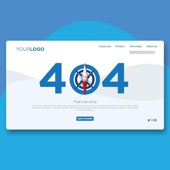 Flaches website-design mit 404 landing page