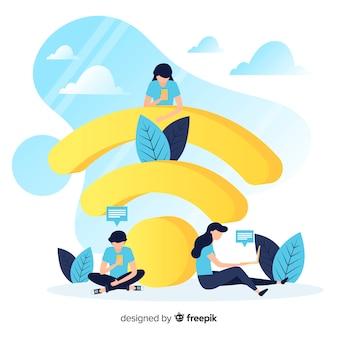 Flaches wifi-konzept