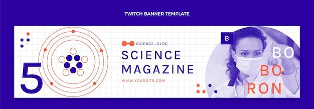 Flaches wissenschafts-twitch-banner