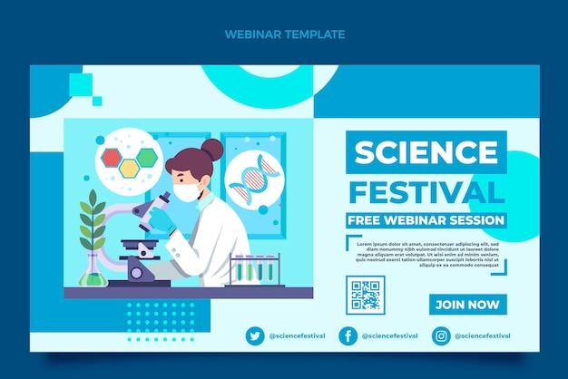 Flaches wissenschafts-webinar
