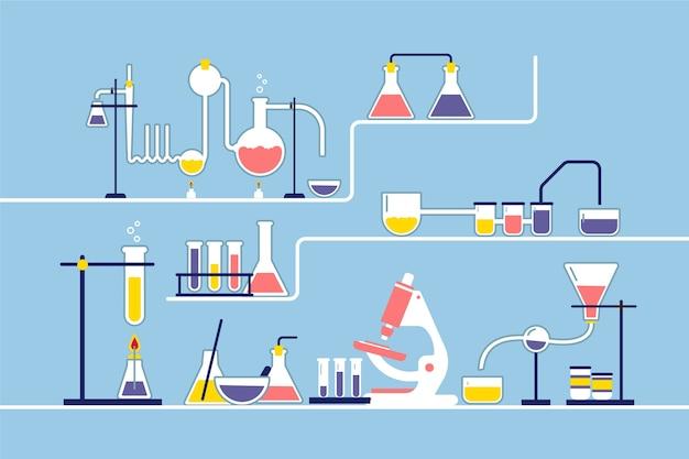 Flaches wissenschaftslaborkonzept