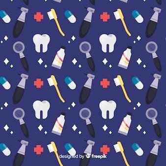 Flaches zahnarztmuster