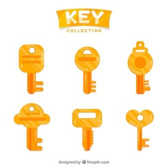 Flachschlüssel-sammlung