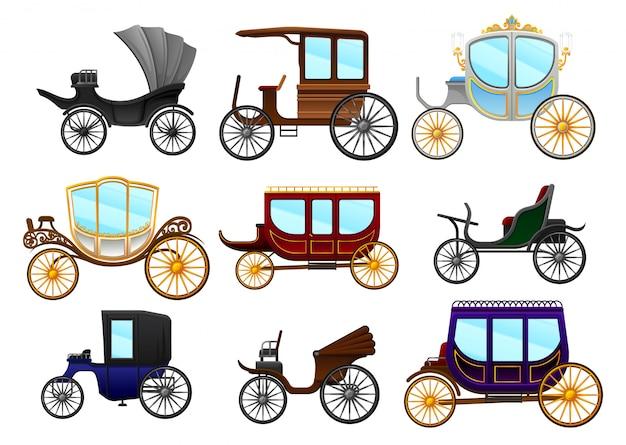 Flachwagen set illustration isoliert