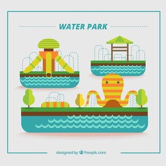 Flachwasserpark mit attraktionen