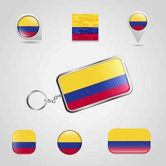 Flag schlüsselanhänger design vektor
