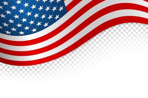 Flagge amerikanischer hintergrund. flagge isoliert auf weißem hintergrund. vektor-illustration