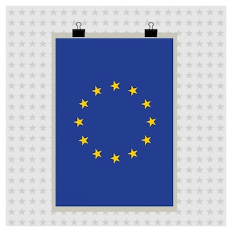 Flagge der europäischen union Kostenlosen Vektoren