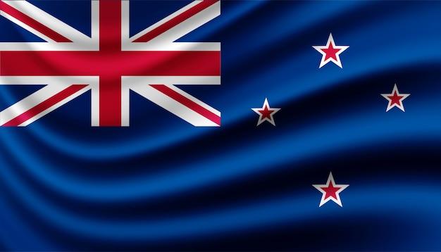 Flagge der neuseeländischen hintergrundschablone.