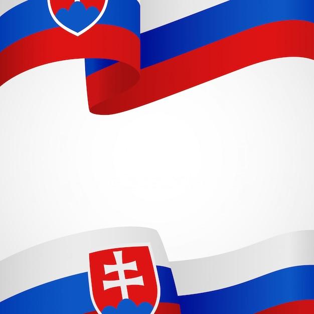 Flagge der slowakei auf weiß