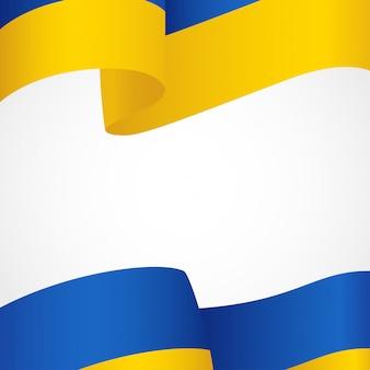 Flagge der ukraine auf weiß