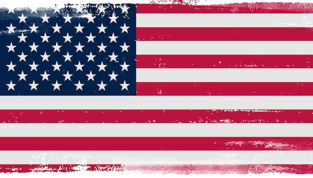 Flagge der vereinigten staaten im grunge-stil