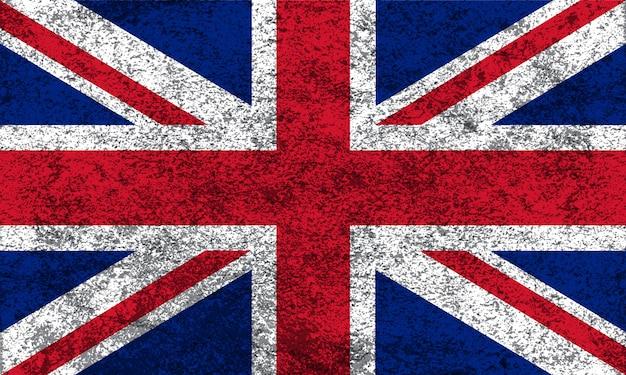 Flagge des vereinigten königreichs im grunge-stil