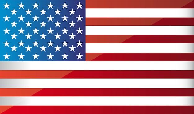 Flagge-hintergrundvektorillustration vereinigter staaten