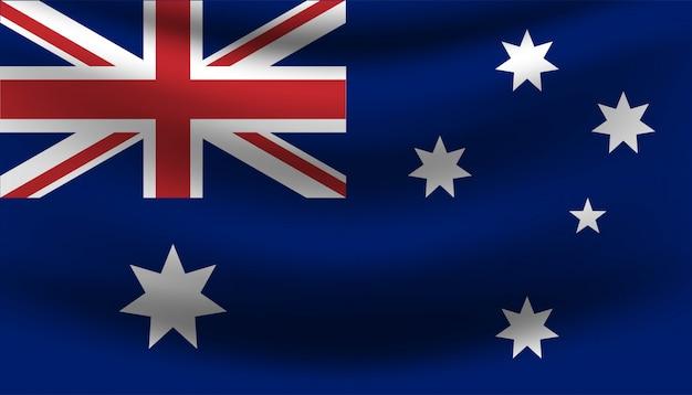 Flagge von australien-fahnenschablone.
