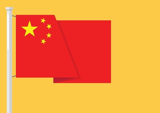 Flagge von china mit exemplar
